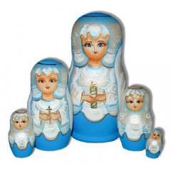 Nesting doll Sergiev-Posad 5 pcs. Angel