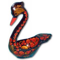 Khokhloma gift swan big