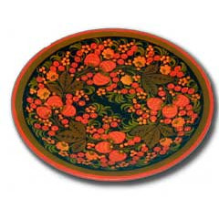 Khokhloma gift Plate