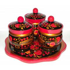 Khokhloma gift Set for spices large