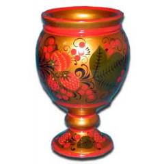 Khokhloma gift Vase for napkins