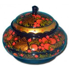 Khokhloma gift Bowl for sugar