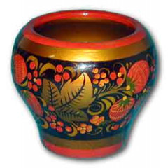 Khokhloma gift Pot for salt