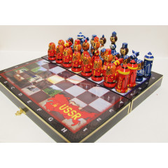 Chess set USSR USA