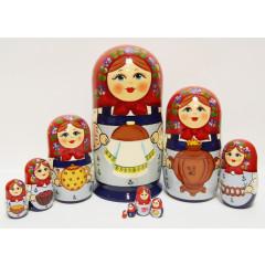 Nesting doll Sergiev-Posad 10 pcs. Bread salt