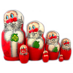 Nesting doll 7 pcs. Santa Claus