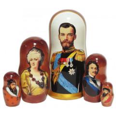 Nesting doll 5 pcs. Tsars