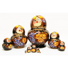 Nesting doll 10 pcs. Smile