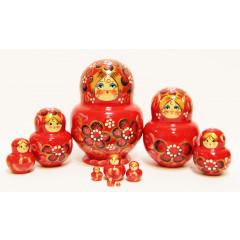 Nesting doll Sergiev-Posad 10 pcs. Borskaya