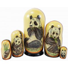 Nesting doll 5 pcs. Bears