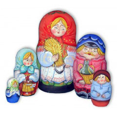 Nesting doll Sergiev-Posad 5 pcs. girl