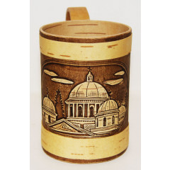 birch bark products mug mag beer, Cathederal