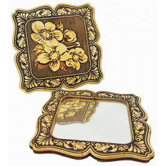 birch bark products mirror square, colors