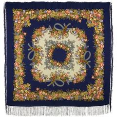 Pavlovo Posad Shawl Pavlovoposadskij with wool fringe 125 x 125 1193-14 Rowan beads
