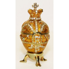 Copy Of Faberge 114-0223-5 Egg easter, small, Royal, beige