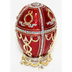"Copy Of Faberge HJD0416-1 Easter egg ""With an arrow"" musical, red"