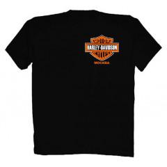 T-shirt L Harley-Davidson Moscow L black