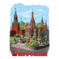 T-shirt L FSD 2 Collage St. Basils Cathederal  L