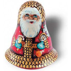 Tilting doll Santa Claus with watch