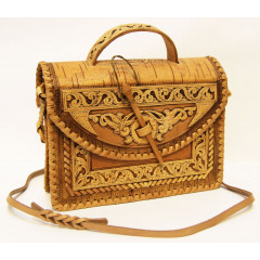 birch bark products women's handbag Bag female, the size 24 x 21 x 8 sm.