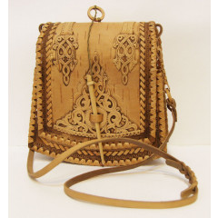 birch bark products women's handbag The bag the Trapeze, the size 20 x 21 x 8 sm.
