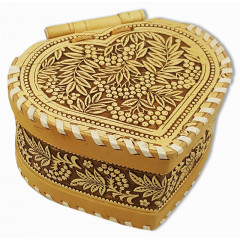 birch bark products box heart