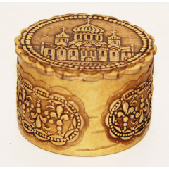 birch bark products box Cathedral, 5 x 3,5 cm.