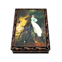 Lacquer Box girl on the horse