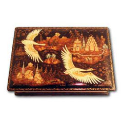 Lacquer Box Kholuy Russian north