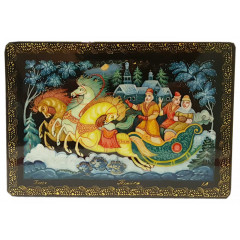 Lacquer Box Kholuy Winter Troika Ride