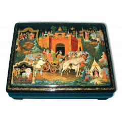 Lacquer Box Palekh Laquer box Palekh Fairy tale about gold the cock