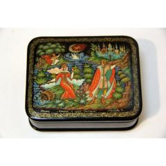 Lacquer Box Palekh Russian fairy tale 10h8h3 cm.