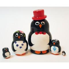 Nesting doll 5 pcs. Pingvins