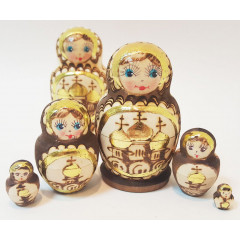 Nesting doll 5 pcs. Church small