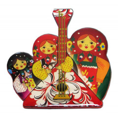 Magnet resin 02-34AS-F02 Magnet pitch three nested dolls with a balalaika