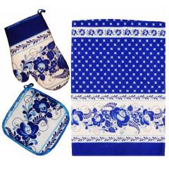 Textiles Set 3 pcs. Gzhel (A30012)