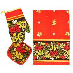 Textiles Set 3 pcs. Khokhloma (A30011)