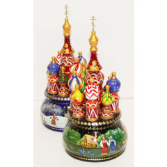 Musical cathedral - a breadboard model Russian North, rotating, 21