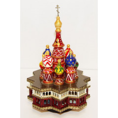 Musical cathedral - a breadboard model faces, rotating, St. Basil's Cathedral, 21 cm.