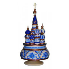 Musical cathedral - a breadboard model Gzhel, Russia, rotary, 23, St. Basil's Cathedral