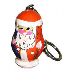 New Year and Christmas keychain Santa Claus