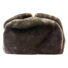 Headdress fur hat Natural grey fur Mouton