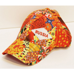 Headdress Baseball cap Abstraction, orange tone