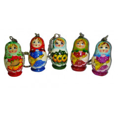 Brelok matreshka in assortment