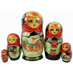 Nesting doll 5 pcs. winter ride