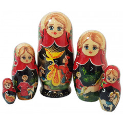 Nesting doll 5 pcs. Heat the Bird, M