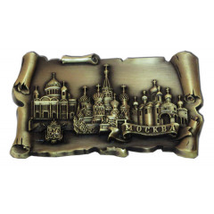 Magnet metal 027-2BR-19K35 The roll metal Moscow the Collage colour bronze