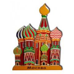 Magnet wooden St. Basils Cathederal