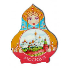 Magnet wooden Red Moscow
