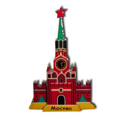 Magnet wooden Spasskaya a tower